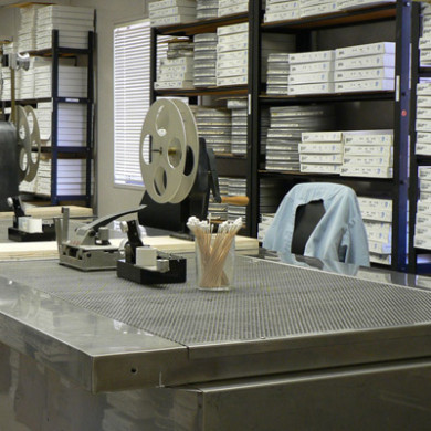 Downdraft Film Preparation Area