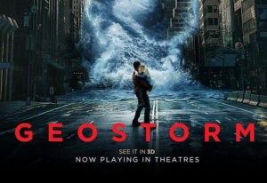 "Don't miss Warner Bros. ""Geostorm"" opening in theaters today!"