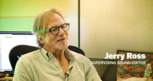 Great article on Supervising Sound Editor, Jerry Ross on the origins of his career now on Deadline.com