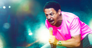 "Now on Netflix – ""Eric Andre Legalize Everything."""